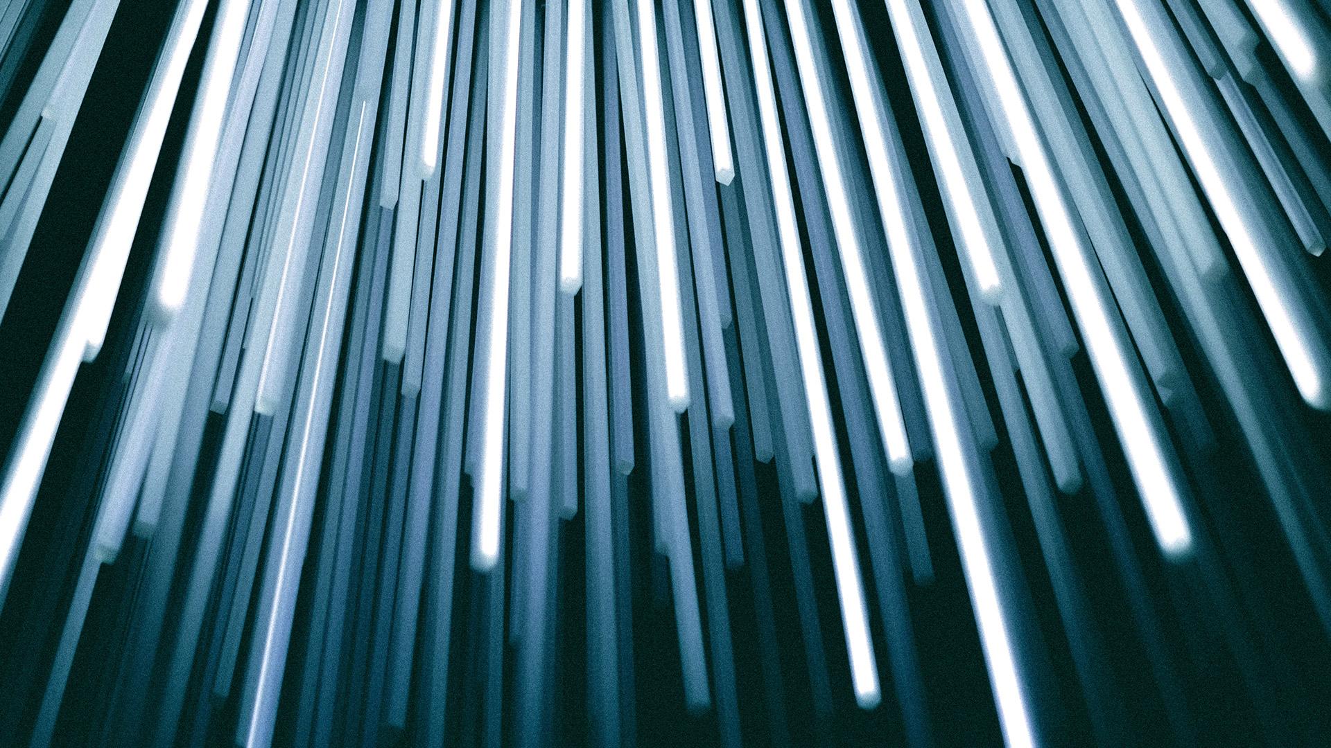Intelligence artificielle, algorithme - Pluie de neons - Christopher Burns