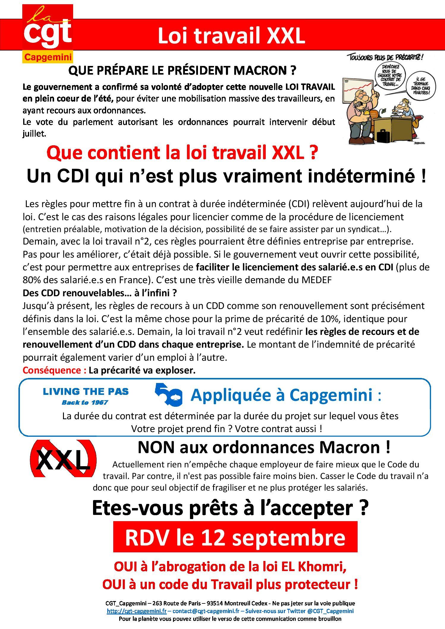 Loi Travail Xxl Fin Du Cdi Tractotheque