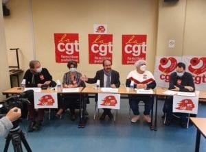 conférence de presse pour le lancement officiellement la campagne CGT « 10% pour la Fonction publique »