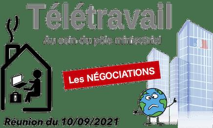 télétravail : négociation au MTES - réunion du 10/09/2021
